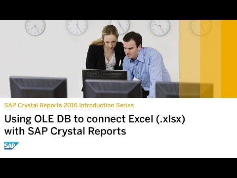 SAP Crystal Reports 2016: Using OLE DB to Connect Excel