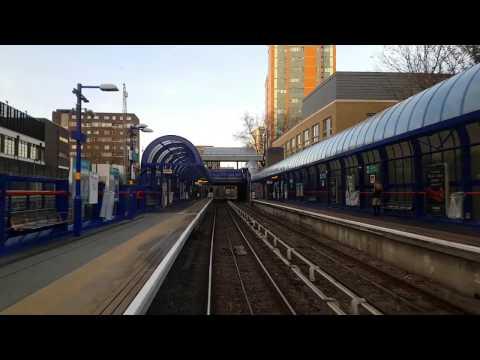 London DLR Train , Canary Wharf to Stratford.