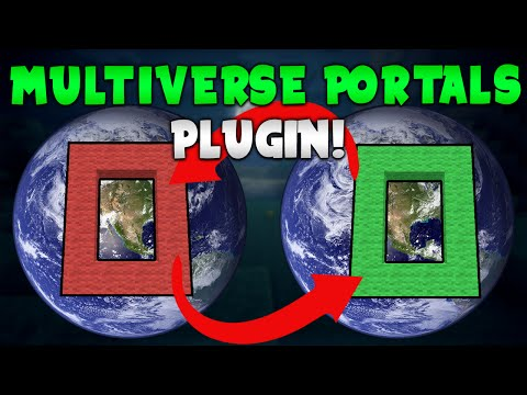 MULTIVERSE PORTALS! | Minecraft Plugin Tutorial