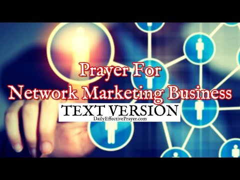 Prayer For Network Marketing Business (Text Version - No Sound)