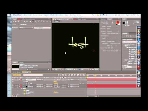 How to Animate Handwriting in After Effects - AE Tutorial