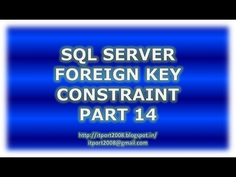 Create, Alter, Drop foreign Key constraint in SQL Server - Part 14