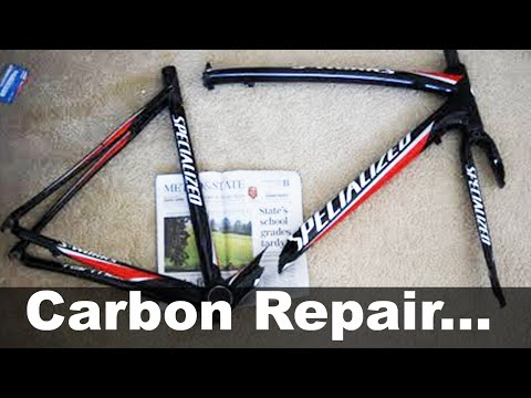 Carbon Fiber Bike Frame Repair UNDER $30 - DIY How To - Specialized S-Works Tarmac