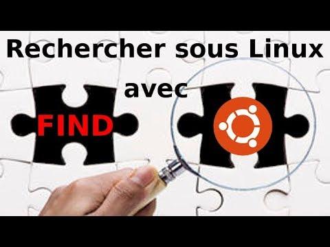 Recherche sous Linux avec find sous Ubuntu