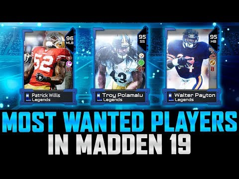 Top 10 Most Wanted Players For Madden 19 Ultimate Team | Unreleased Players! | MUT 19 Wish List
