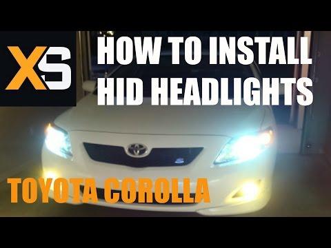 DIY HID Xenon Install: Toyota Corolla 2006-2013