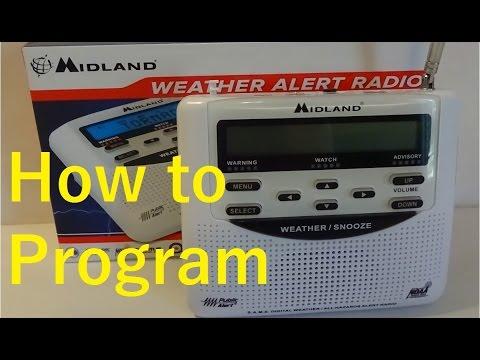 How to program the Midland Weather Alert Radio