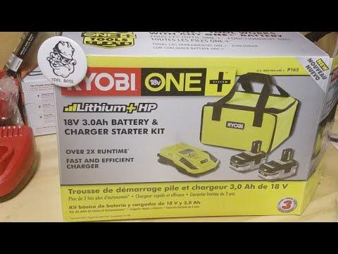 Ryobi 18v 3.0ah Battery And Charger Kit W/ Free Tool