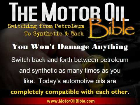 Switching from Petroleum to Synthetic Oil & Back