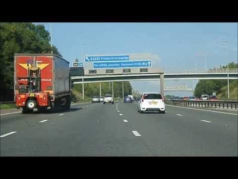 Manchester to Blackpool via the Motorways.