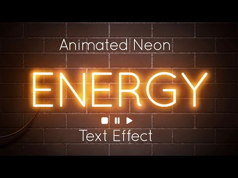 How To Create an Animated Neon Text Effect in Adobe Photoshop