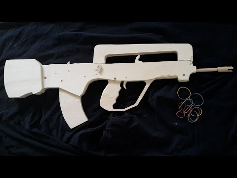 Making a FAMAS G2 Rubberband Gun [ Semi-Auto ] - Free templates