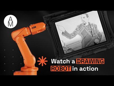 Drawing robot ABB IRB120