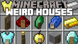 Minecraft WEIRD HOUSES MOD / FIND YOUR FAVOURITE YOUTUBERS HOUSE!! Minecraft