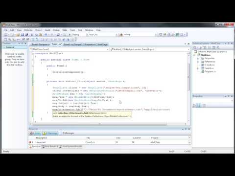 Create your own Email Client - C# C Sharp Visual Studio 2008