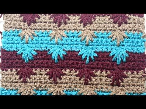 CROCHET  How to Crochet the Puff Spike Stitch #TUTORIAL #128 LEARN CROCHET
