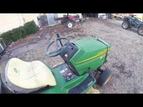 John Deere GT275 Lawn Mower with Bagger 17 Horsepower Kawasaki FC540V