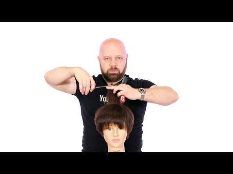 Haircut Video - Proper Arm & Body Position for Cutting - TheSalonGuy