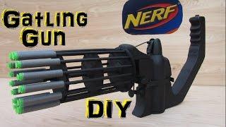 Homemade Nerf Gatling Gun (Fully Automatic!) DIY