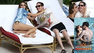 Kaia Gerber and Pete Davidson Get Hot and Heavy in Miami Beach!