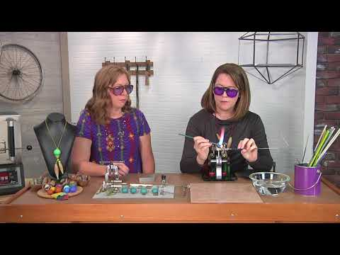 Learn how to create hollow glass beads on Beads, Baubles and Jewels with Aja Vaz (2604-3)