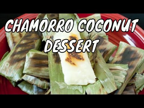 Apigige' or apigigi or cassava and coconut in banana leaves