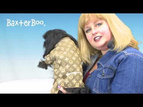 Crown Dog Pajamas by Hip Doggie - Brown