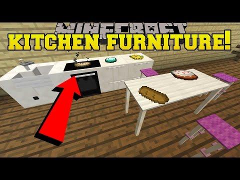 Minecraft: 5 PIECES OF EPIC KITCHEN FURNITURE!!! - Custom Command