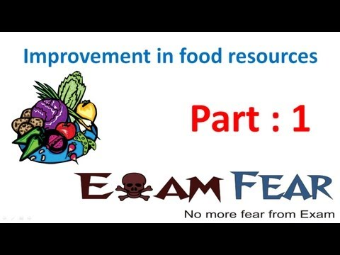 Biology Improvement in Food Resources part 1 (Introduction) CBSE class 9 IX