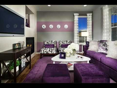 Eggplant and Gray Bedroom Walls ideas