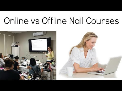 Online Nail Technician courses or Live classes?
