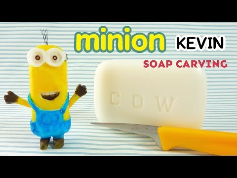 SOAP CARVING| minion KEVIN| How to carve | DIY | Real sound |