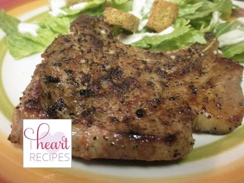 I Heart Recipes - Easy Grilled Pork Chops Recipe Using a Cast Iron Grill
