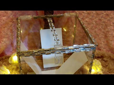 DIY| Glam Crystal Wedding Card Box | Glam Elegance