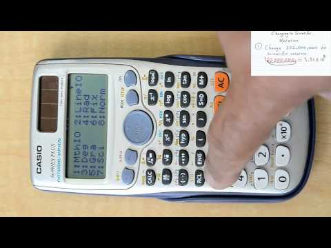 Changing between scientific notation & decimals