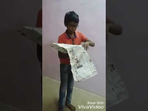 How to make a hot air balloon with easy method of newspaper