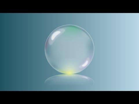 Blue Glass Ball On Light BackGround Illustrator Tutorial