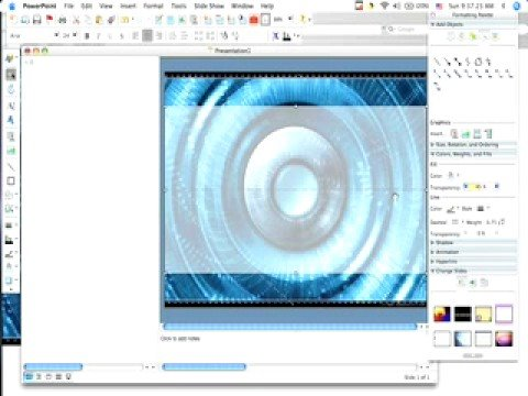 How to create a Custom Background and Design for Powerpoint