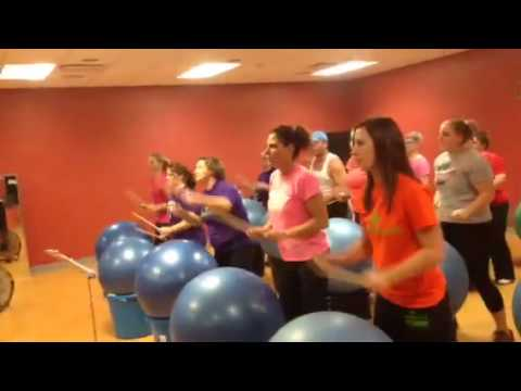 Cardio Drumming of Poker Face @ Cage Nutrition