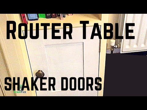 Making Shaker style panel doors doors on a router table: router table tips and tricks.