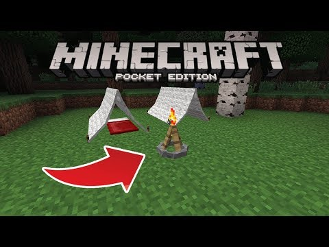 HOW TO MAKE THE BEST Minecraft Pocket Edition CAMPFIRE!! Minecraft Pocket Edition CAMPFIRE