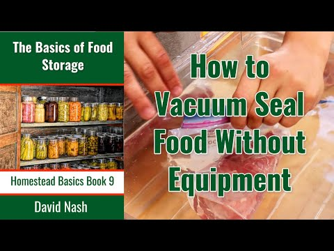 Vacum Sealing without Equipment
