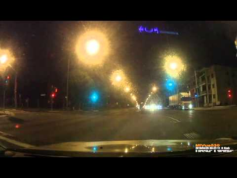 Truck Flashed by Red Light Camera