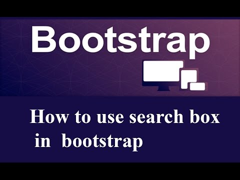 how  to use searchbox in bootstrap