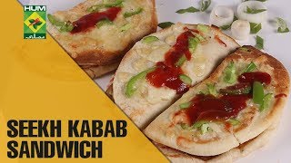 How to make tender & juicy Seekh Kabab Sandwich at home | Tarka | MasalaTV Show | Rida Aftab