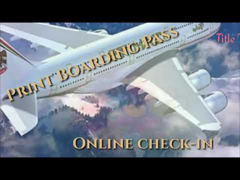 How To Do Online Check-in In Etihad airways flight II How To Check in online for Etihad airways Tkt
