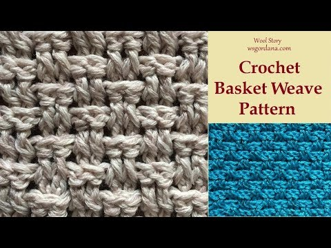 How to Crochet a Basket Weave Pattern (Heklana mustra)