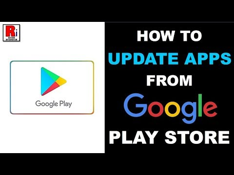 HOW TO UPDATE APPS FROM GOOGLE PLAY STORE