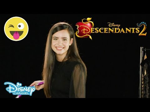 Descendants 2 | Hula Hoop Challenge ft. Sofia Carson | Official Disney Channel UK