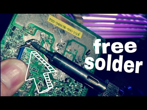 Awesome Way to get Free Solder from old circuit boards!